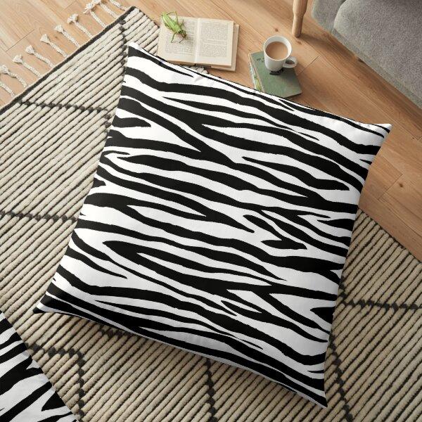 Black And White Zebra Stripes Floor Pillow