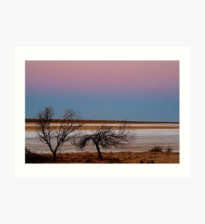 Salt Pan at Dusk, Simpson Desert Art Print