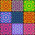 Multi colored patchwork kaleidoscope #2 by CraftyArts
