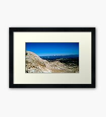 Blue Skies over Dachstein Glaciers Framed Print