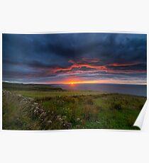 Sunrise over the Scottish Highlands Poster