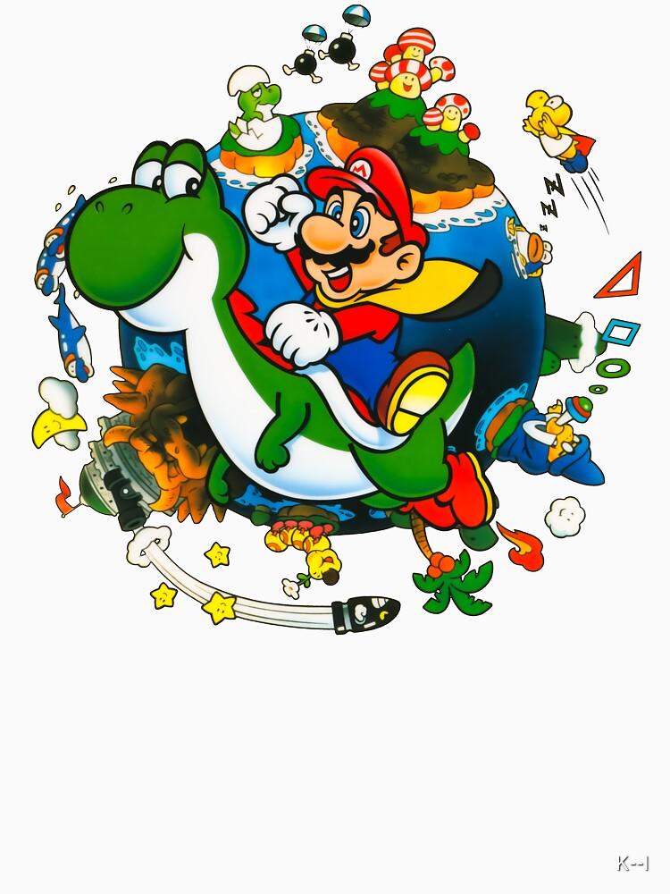 Super Mario World Planet. by K--I