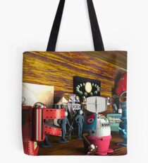 A Collection of 3D Vintage Space Toys Tote Bag