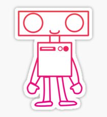 Lil' Robo Rockin' Pink Sticker