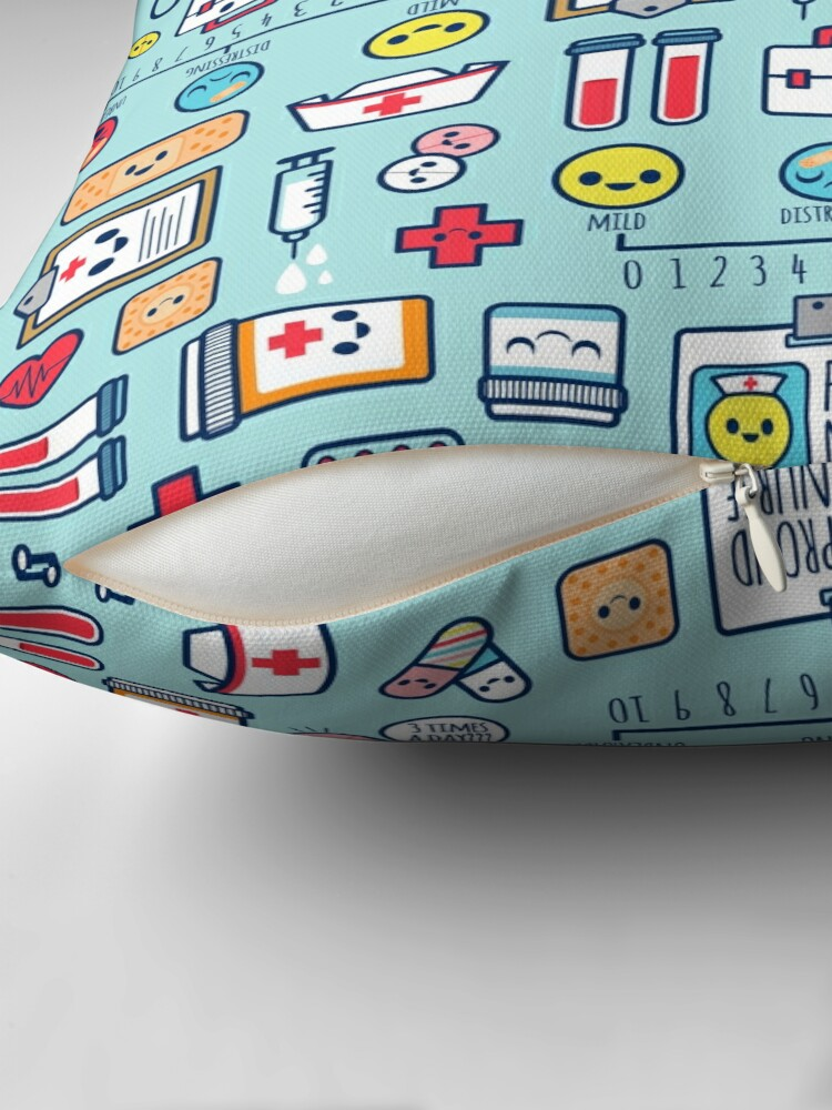 Alternate view of Proud To Be a Nurse / Surface Pattern Design / Blue Floor Pillow