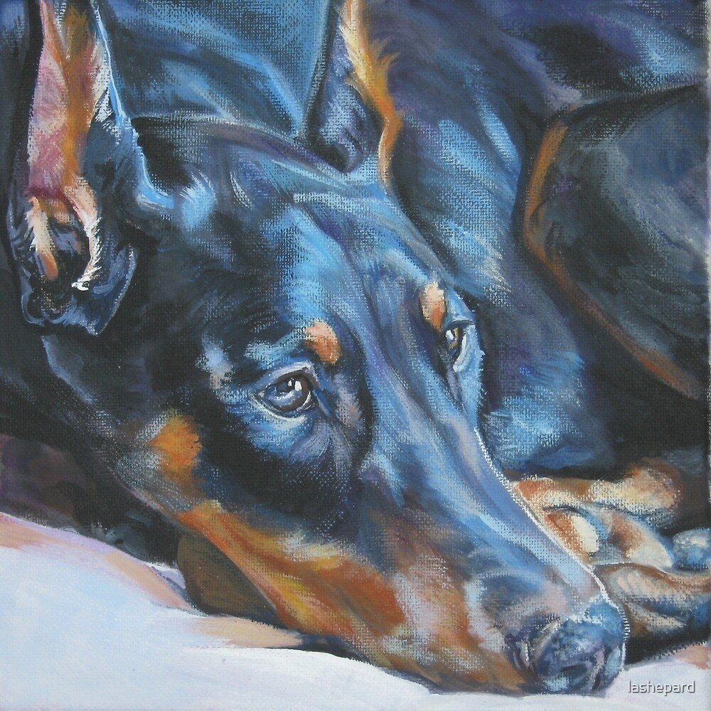 Doberman Pinscher Fine Art Painting by lashepard