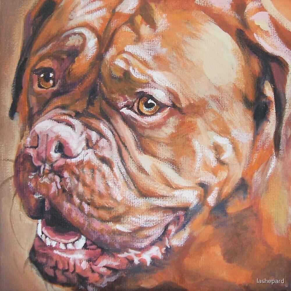 Dogue De Bordeaux Fine Art Painting by lashepard