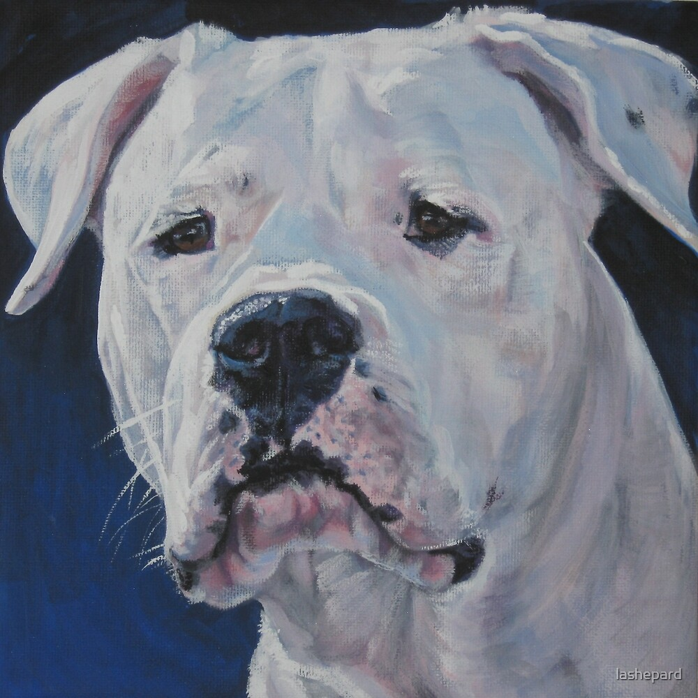 Dogo Argentino Fine Art Painting by lashepard