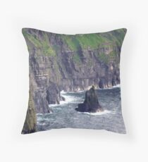 Cliffs of Moher, Clare, Ireland Throw Pillow
