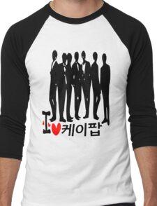 I Heart KPOP in Korean language Men's Baseball ¾ T-Shirt