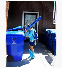 Recycling is BLUE Poster