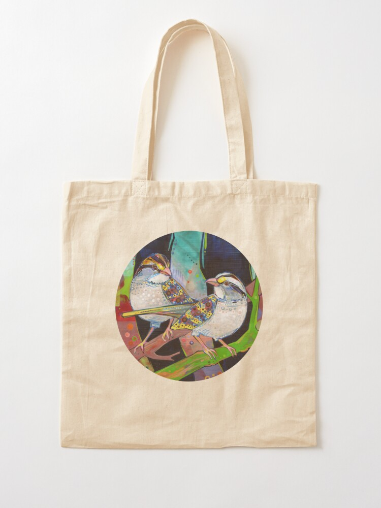 Alternate view of White-throated sparrows painting - 2012 Tote Bag