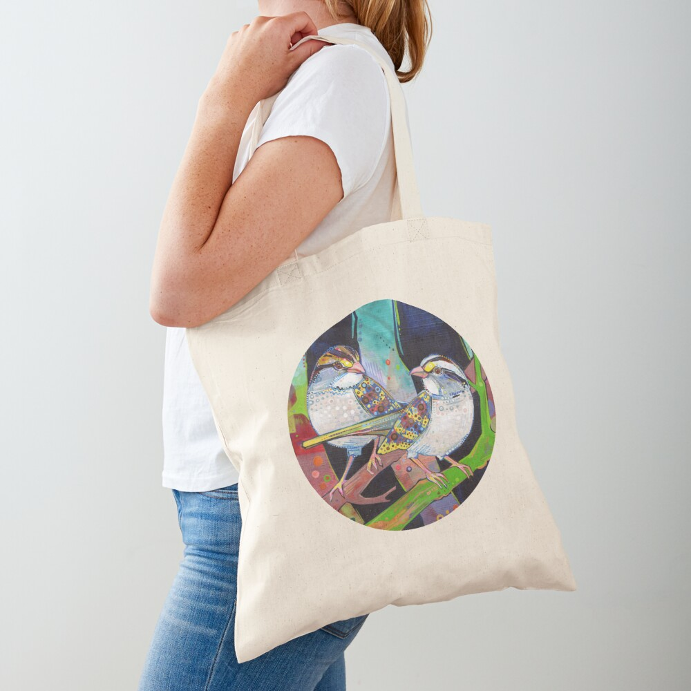 White-throated sparrows painting - 2012 Tote Bag