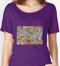 Objects VI (2014) (Wine) - drawing by artcollect Women's Relaxed Fit T-Shirt