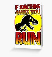 Dino RUN Greeting Card