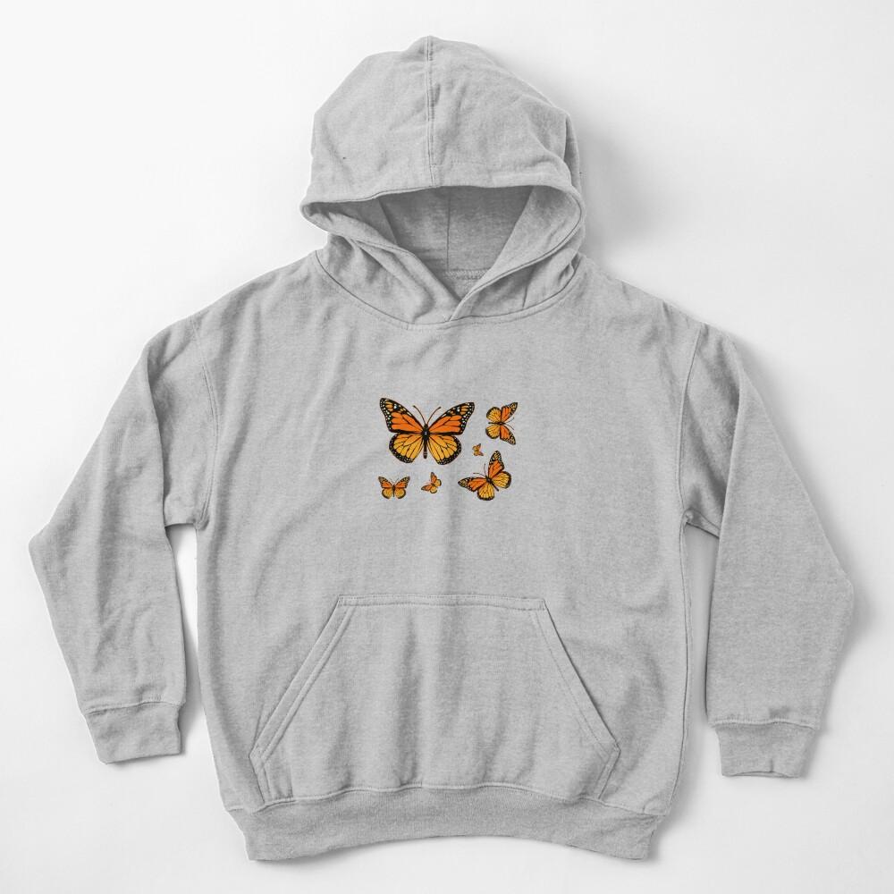 Monarch Butterfly Rapsody Kids Pullover Hoodie