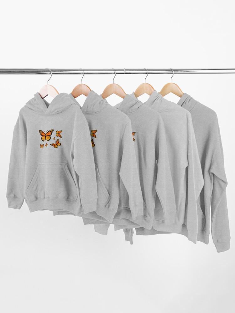 Alternate view of Monarch Butterfly Rapsody Kids Pullover Hoodie