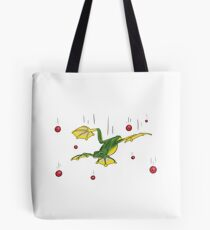 Falling Frog and Cranberries Tote Bag