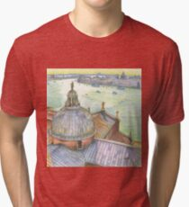 VENICE. View to Grand Canal from Basilica Di San Giorgio Maggiore.  Tri-blend T-Shirt