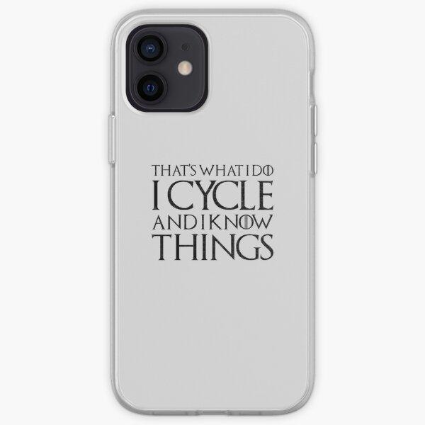 Je fais du vélo et je sais des choses Coque souple iPhone