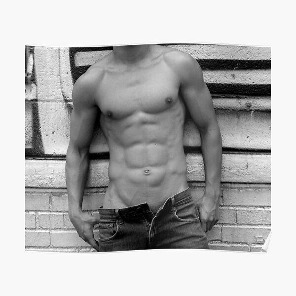abdominales masculinos Póster