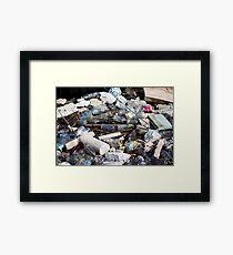 Garbage Framed Print