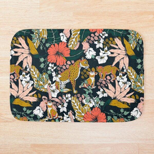 Animal print dark jungle Bath Mat