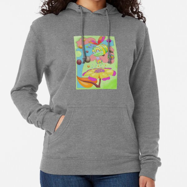 Busy bee shopping flowers collecting nectar Lightweight Hoodie