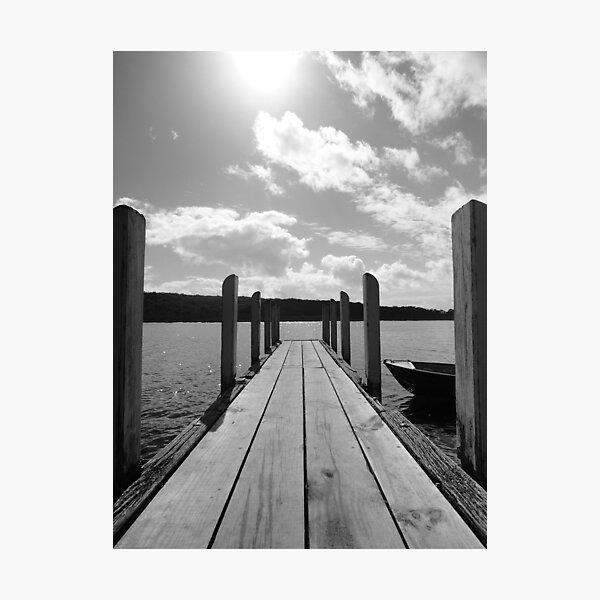 Jetty in black & white Photographic Print