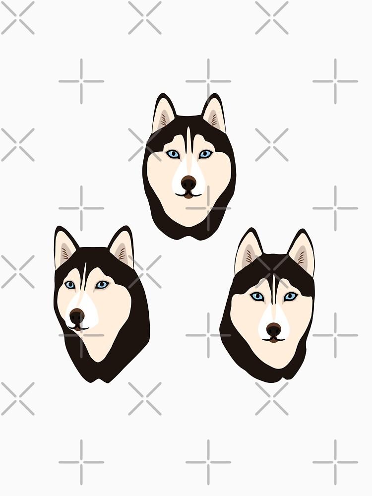 Husky Dogs Heads (pattern and stickers) by nadyanadya