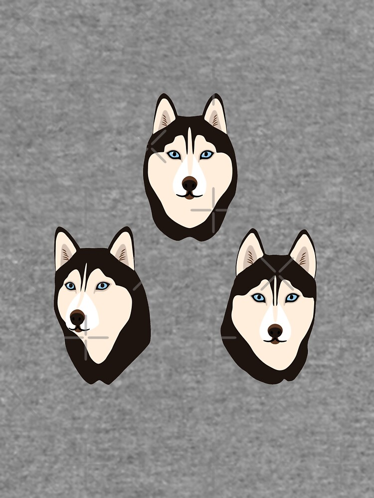 Husky Dogs Heads (pattern and stickers) by nadyanadya