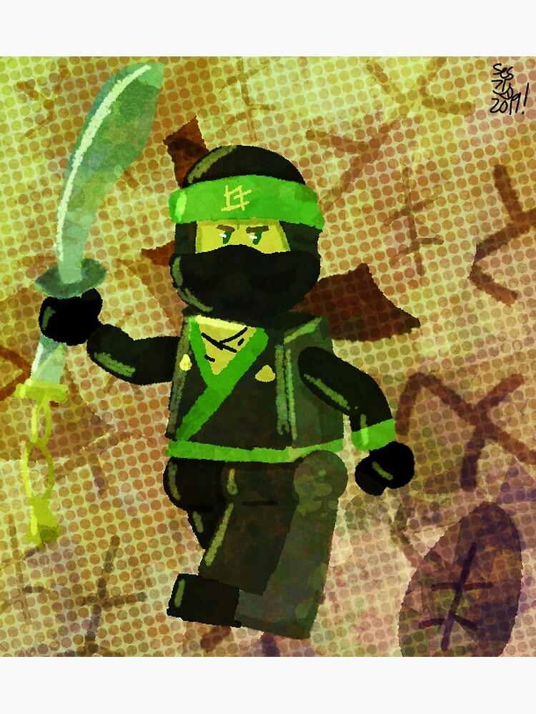 Ninjago The Green Ninja Greeting Card By Pguniverse Redbubble