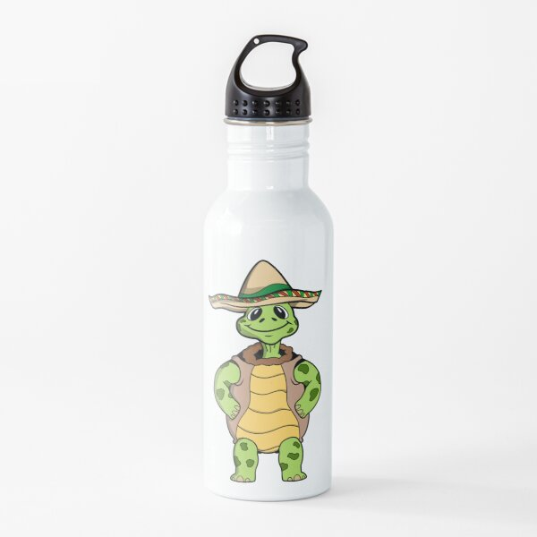 Turtle with sombrero Water Bottle