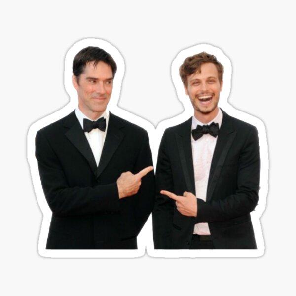 Matthew Gray Gubler & Thomas Gibson Sticker
