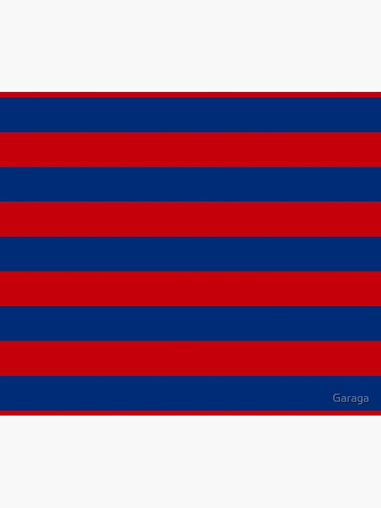 Large Nautical Red and Blue Stripes Decor by Garaga