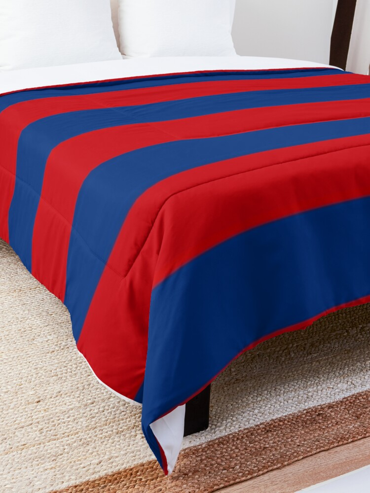 Alternate view of Large Nautical Red and Blue Stripes Decor Comforter