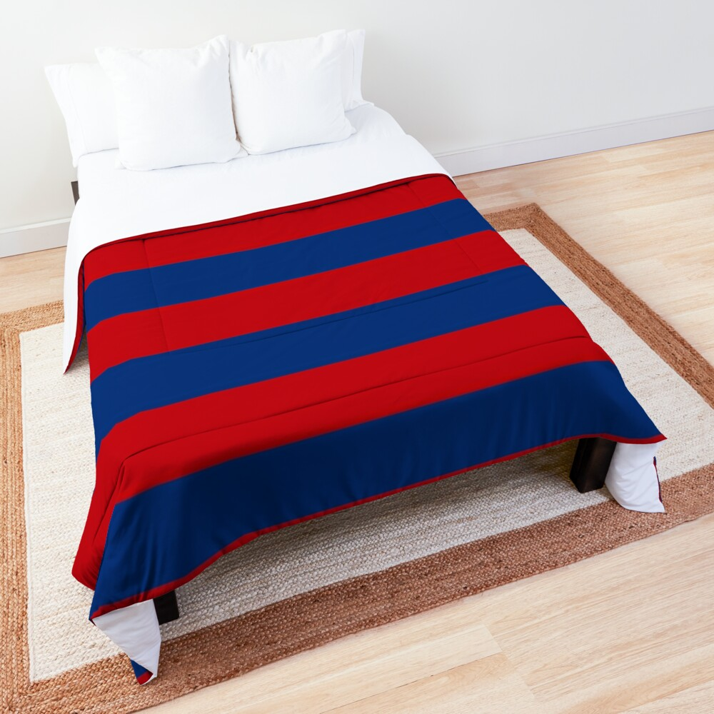 Large Nautical Red and Blue Stripes Decor Comforter