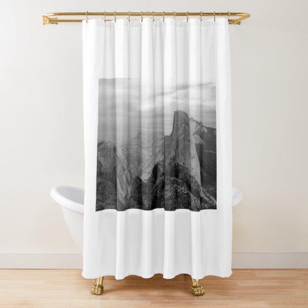 Half Dome BW Shower Curtain