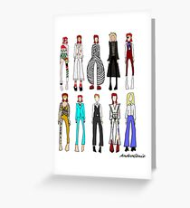 The stages of Bowie Greeting Card