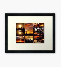 Sunset Collage Framed Print
