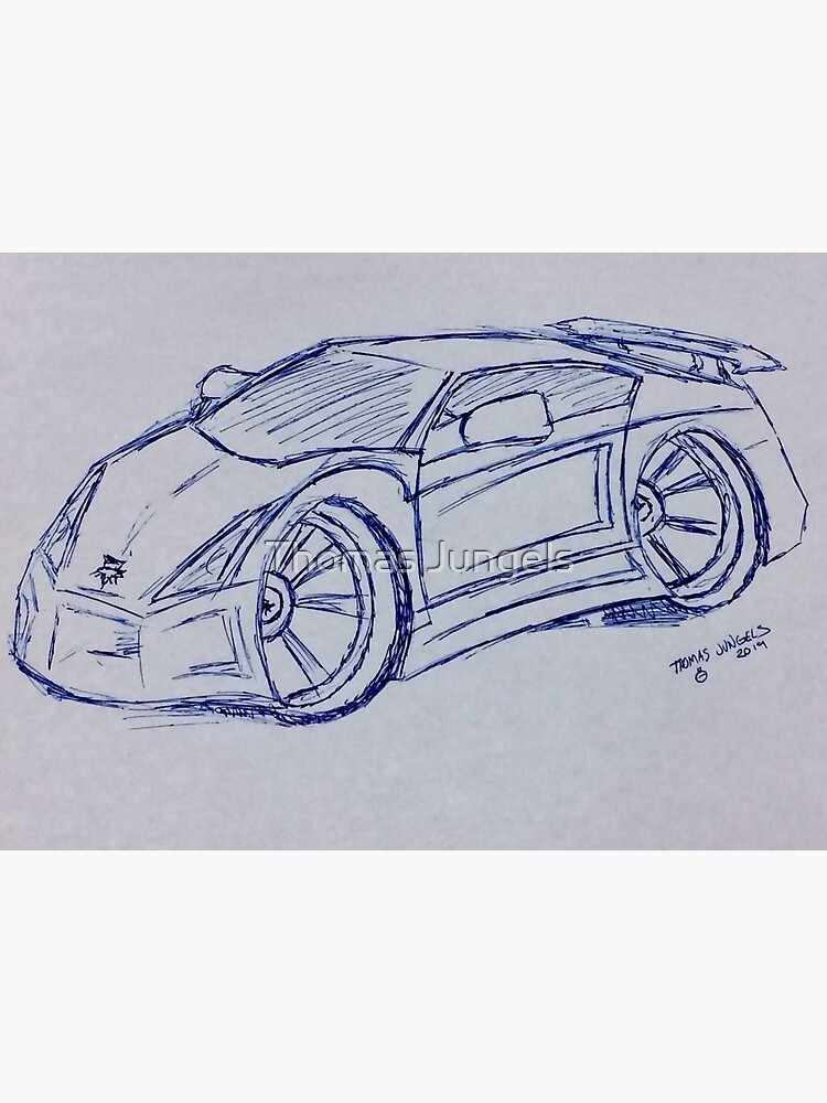 Supercar Charicture Art Sketch Art Board Print By Hyperpainter Redbubble