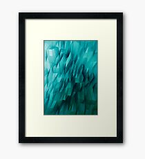 Abstract-Blue Framed Print