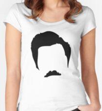 Swanson Mustache Man Women's Fitted Scoop T-Shirt