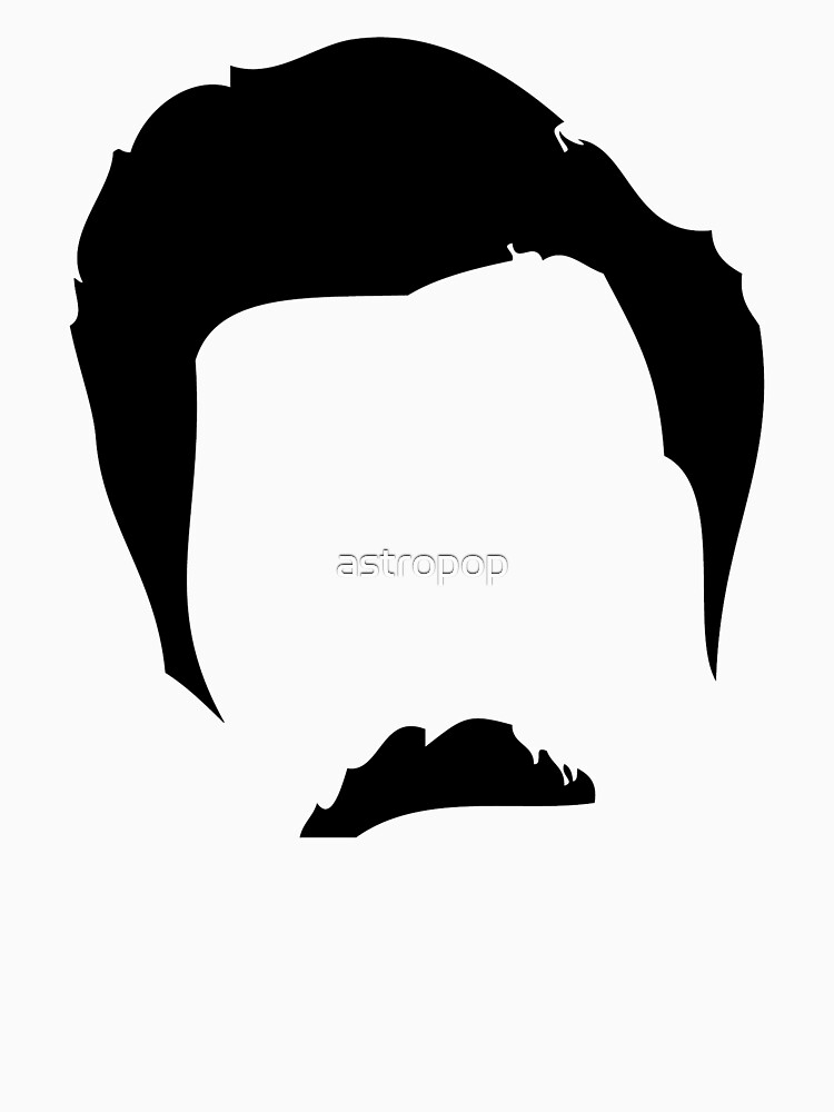 Swanson Mustache Man by astropop