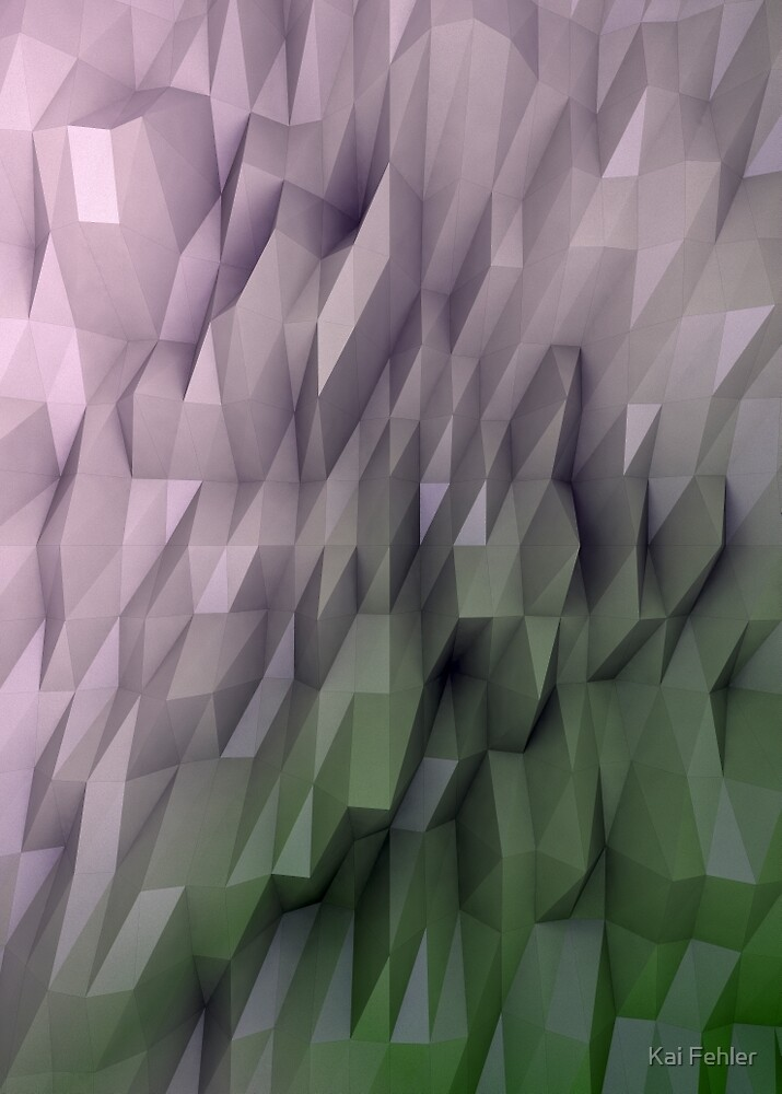 Abstract-Green-Pink by Kai Fehler