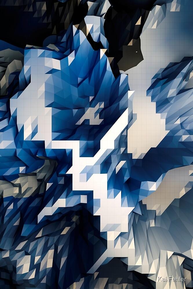 Abstract-Blue-White by Kai Fehler