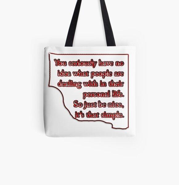 Be Nice  All Over Print Tote Bag