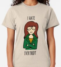 Daria V2 | I HATE EVERYBODY Classic T-Shirt