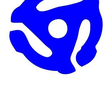 Soporte de registro de vinilo azul 45 RPM de astropop