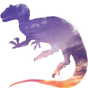 Purple Sky Allosaurus Silhouette by FredWierum